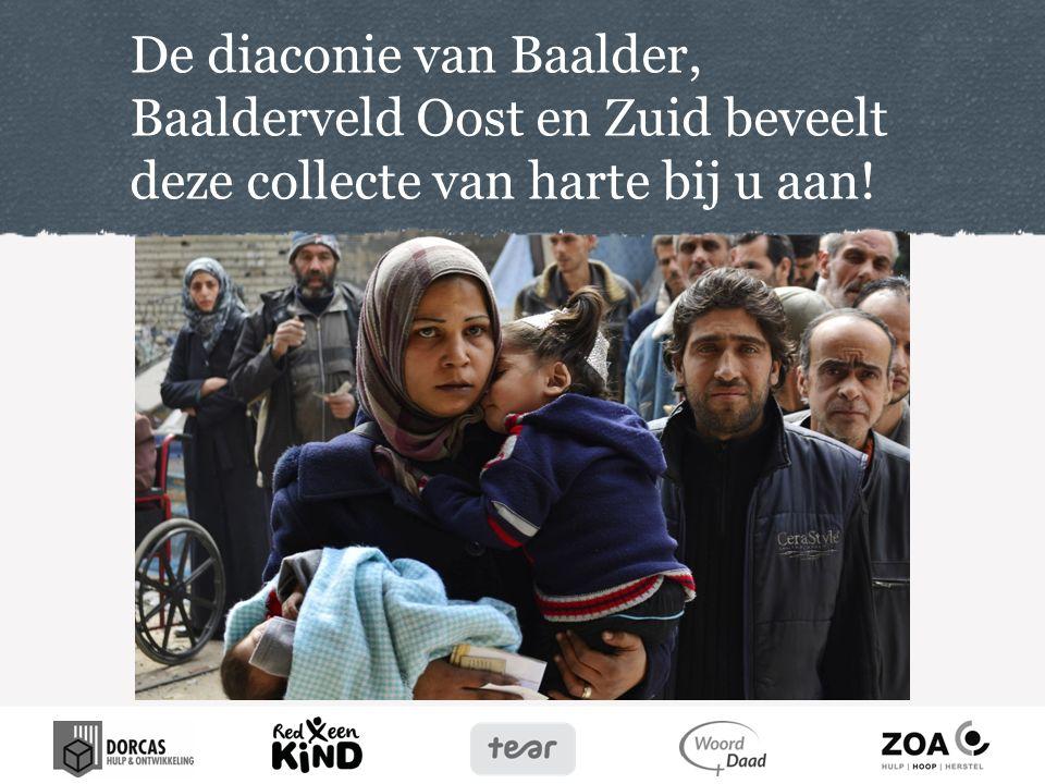 De diaconie van Baalder, Baalderveld Oost en Zuid beveelt deze collecte van harte bij u aan!
