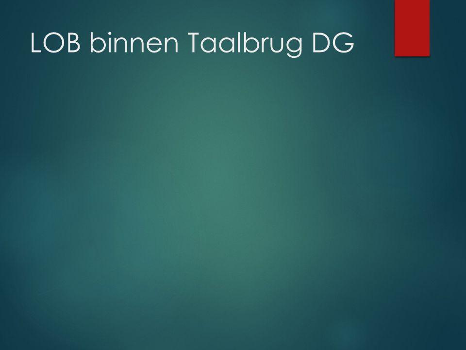 LOB binnen Taalbrug DG