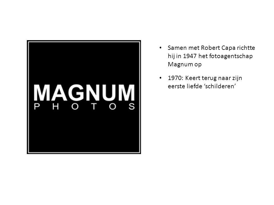 Samen met Robert Capa richtte hij in 1947 het fotoagentschap Magnum op 1970: Keert terug naar zijn eerste liefde 'schilderen'