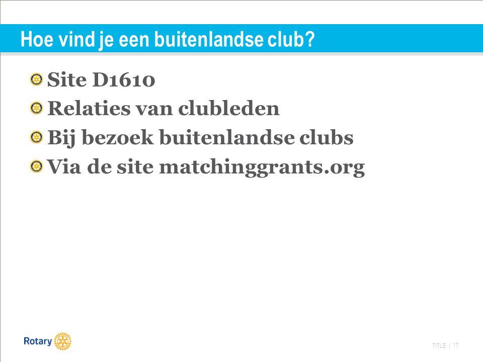 TITLE | 17 Hoe vind je een buitenlandse club.