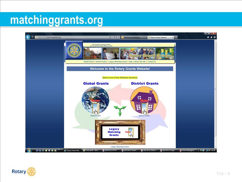 TITLE | 18 matchinggrants.org