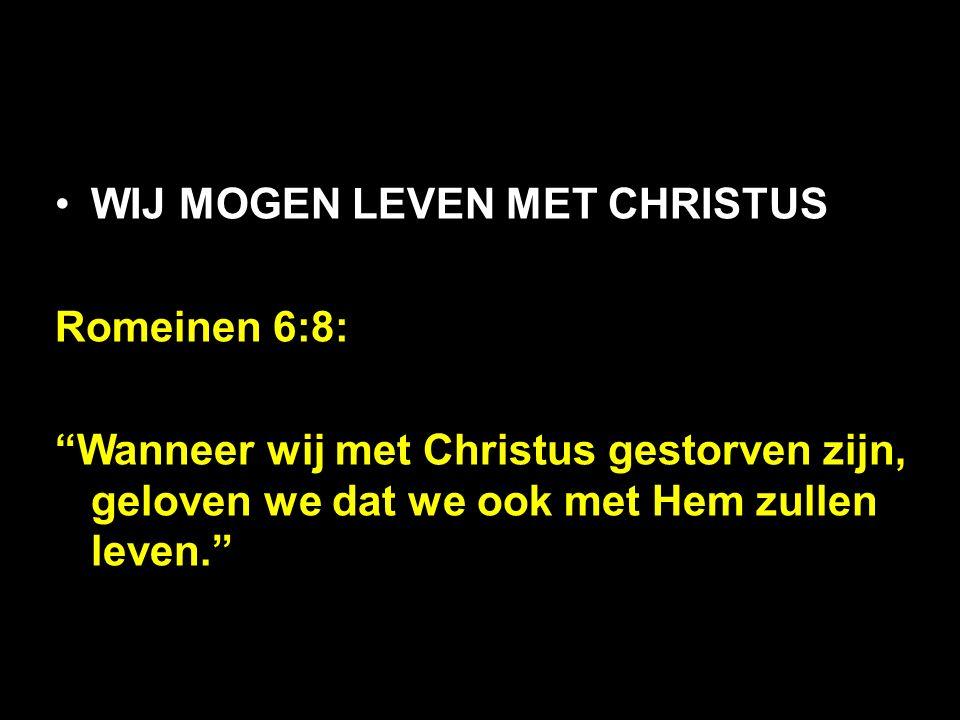 """Romeinen 6:8: """"Wanneer wij met Christus gestorven zijn, geloven we dat we ook met Hem zullen leven."""""""