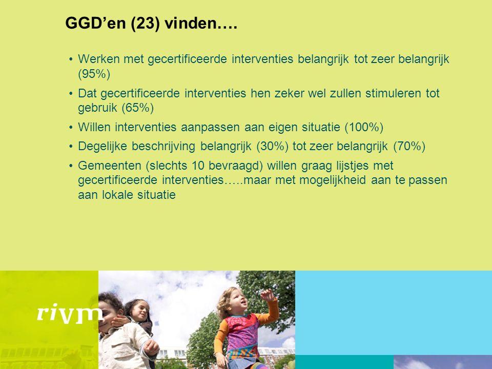 GGD'en (23) vinden….