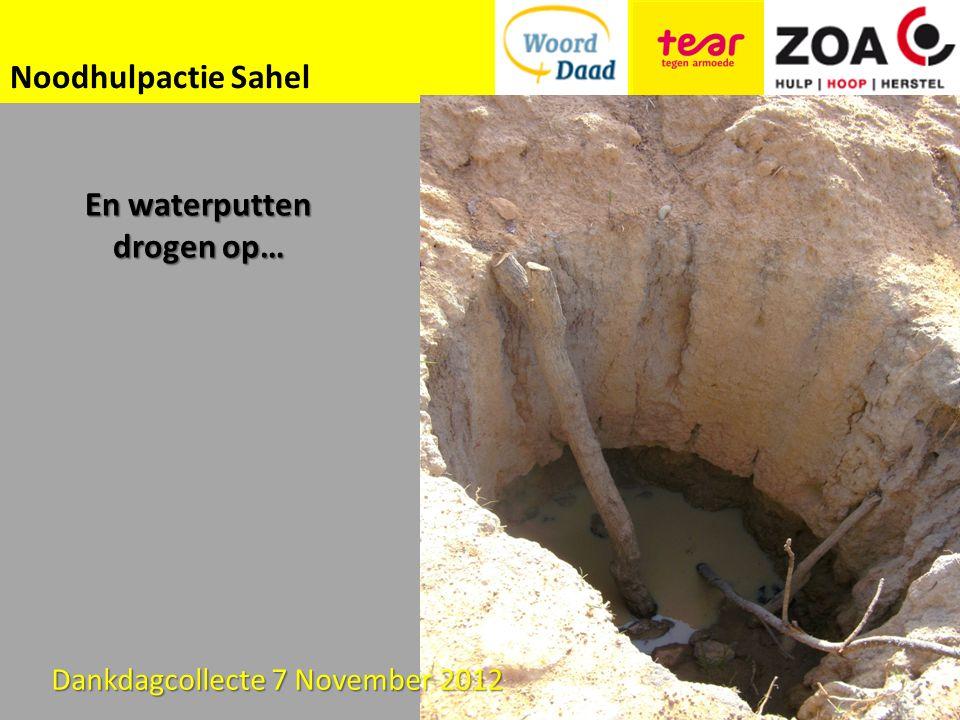 Noodhulpactie Sahel En waterputten drogen op… Dankdagcollecte 7 November 2012