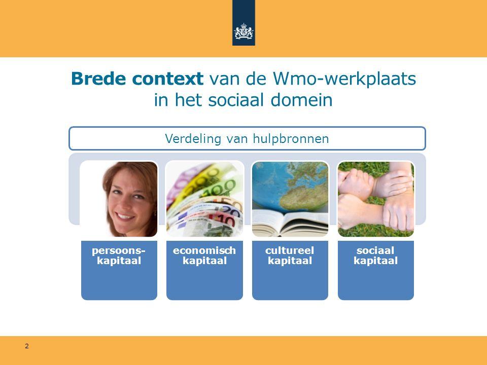 2 Brede context van de Wmo-werkplaats in het sociaal domein Verdeling van hulpbronnen