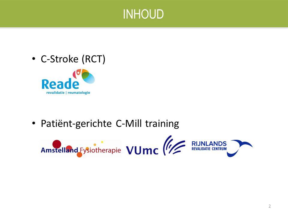 2 C-Stroke (RCT) Patiënt-gerichte C-Mill training