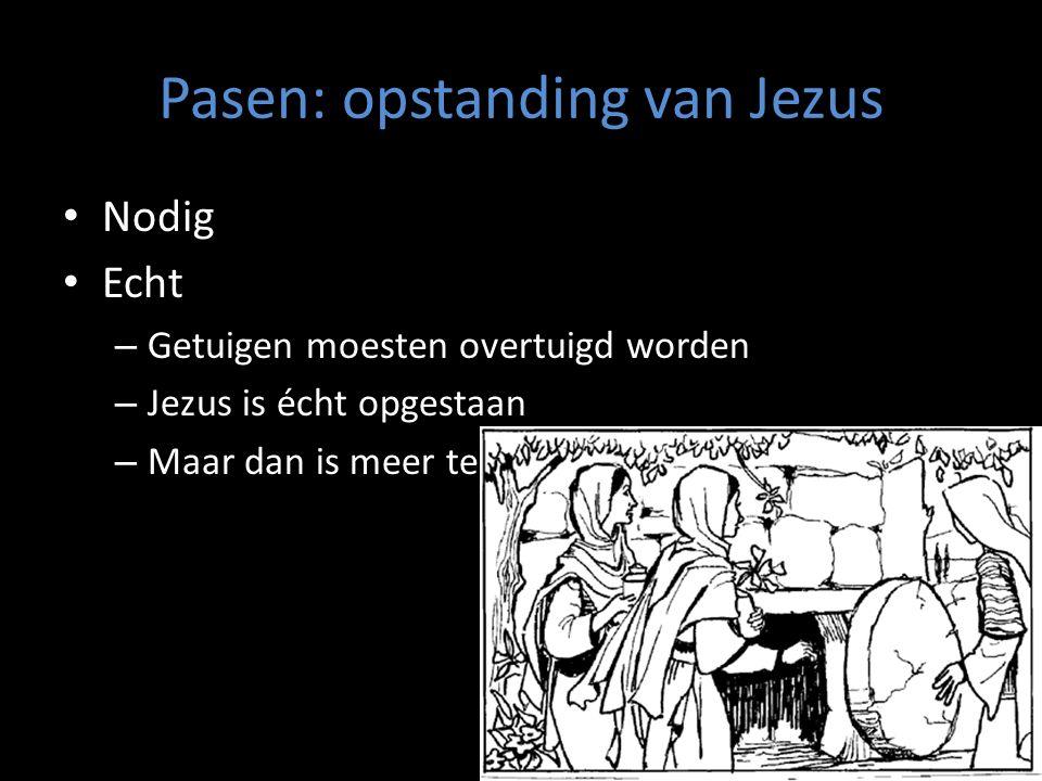 Pasen: opstanding van Jezus Nodig Echt – Getuigen moesten overtuigd worden – Jezus is écht opgestaan – Maar dan is meer te zeggen……wij ook !