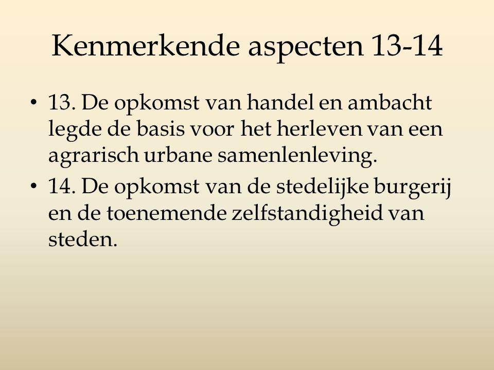 Kenmerkende aspecten 13-14 13.