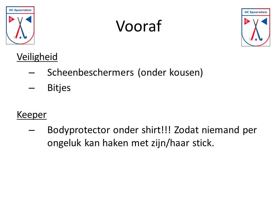 Vooraf Veiligheid – Scheenbeschermers (onder kousen) – Bitjes Keeper – Bodyprotector onder shirt!!.