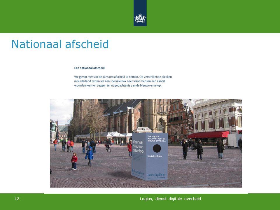 Logius, dienst digitale overheid 12 Nationaal afscheid