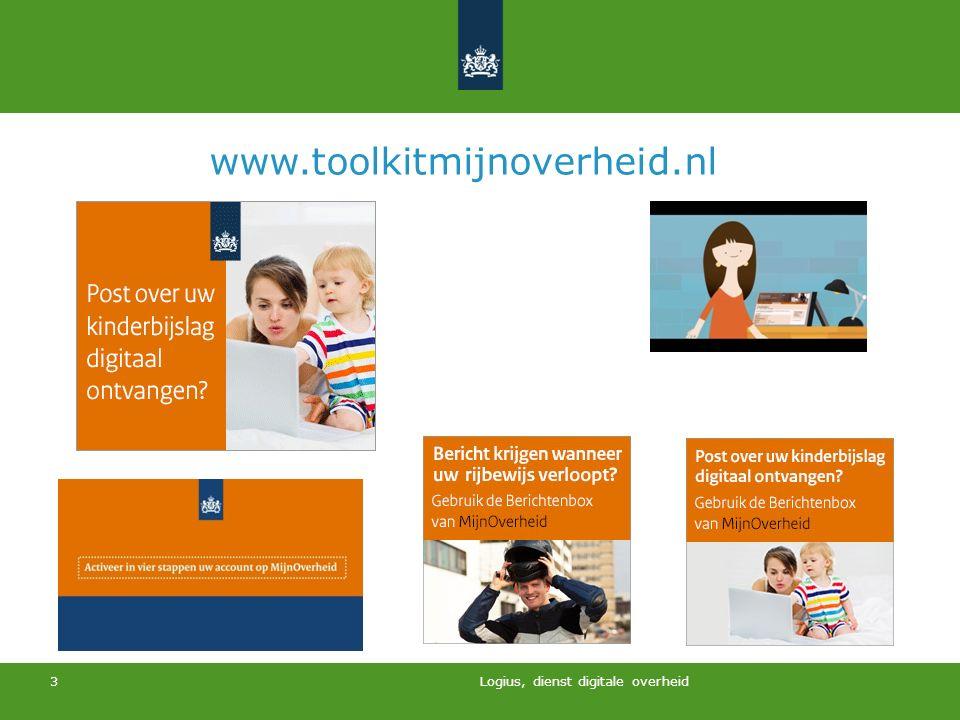 Logius, dienst digitale overheid 3 www.toolkitmijnoverheid.nl