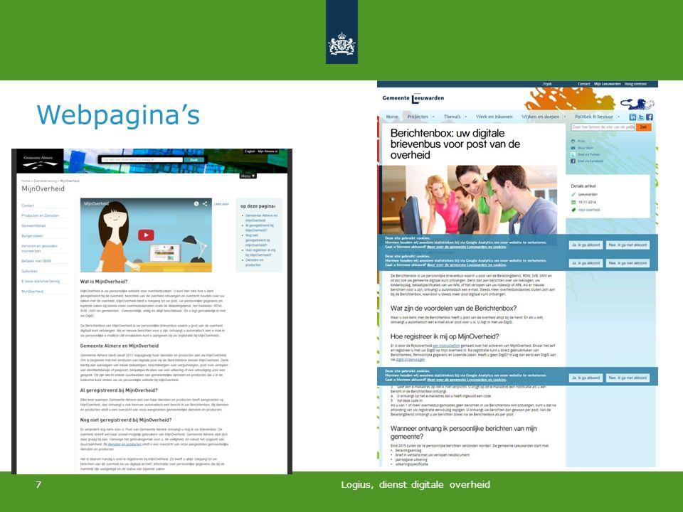 Logius, dienst digitale overheid 7 Webpagina's
