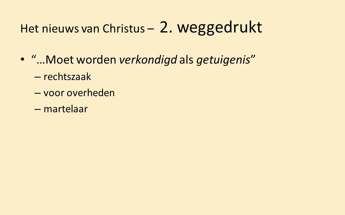 Het nieuws van Christus – 2.