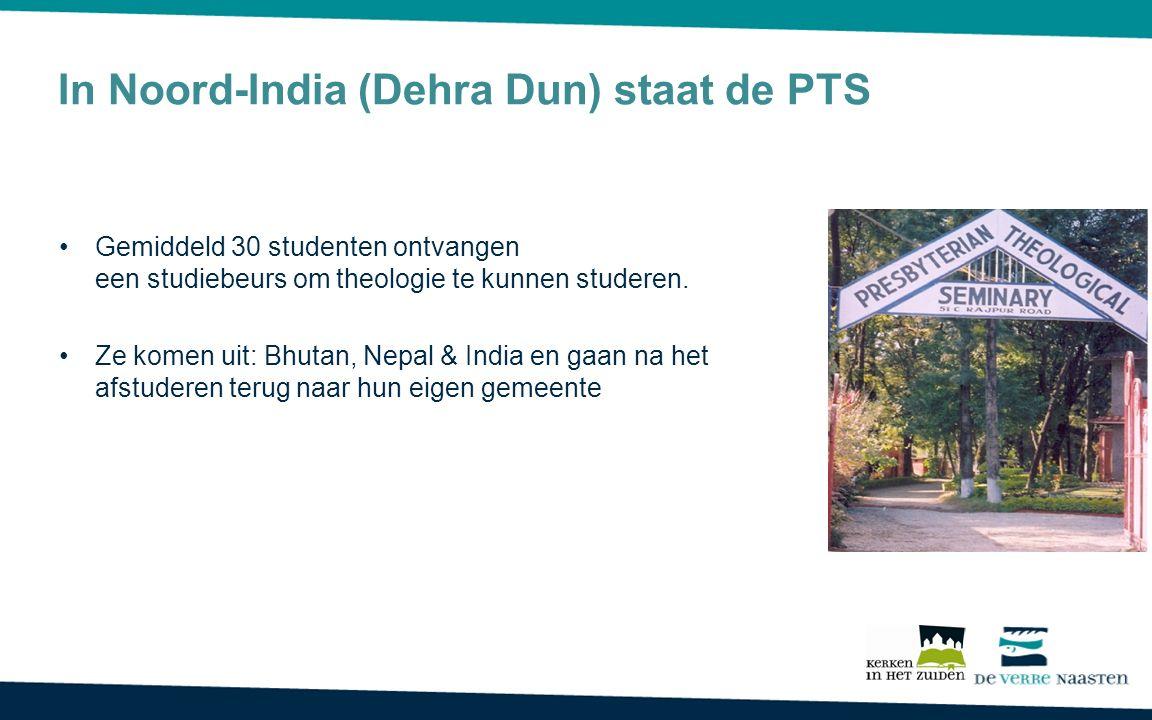 In Noord-India (Dehra Dun) staat de PTS Gemiddeld 30 studenten ontvangen een studiebeurs om theologie te kunnen studeren. Ze komen uit: Bhutan, Nepal