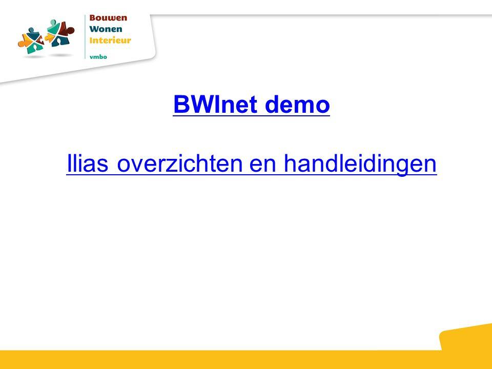 BWInet demo Ilias overzichten en handleidingen