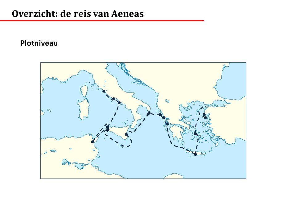 Overzicht: de reis van Aeneas Plotniveau