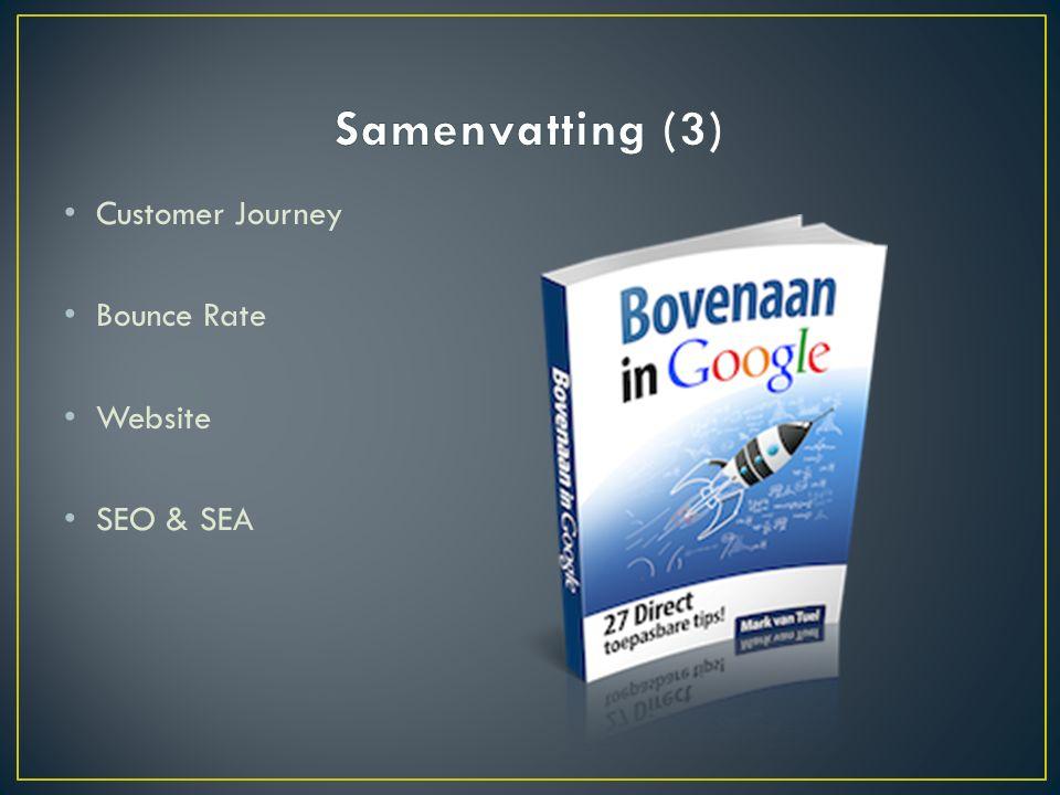 Customer Journey Bounce Rate Website SEO & SEA