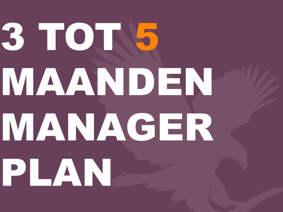 3 TOT 5 MAANDEN MANAGER PLAN