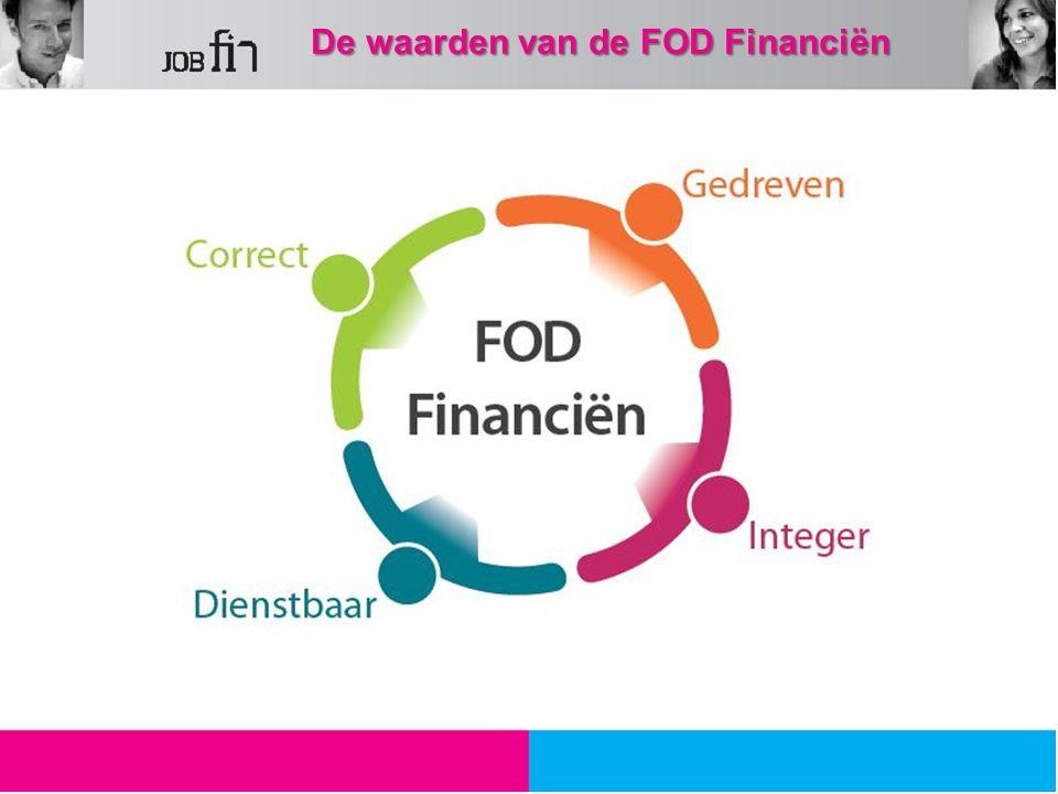 De waarden van de FOD Financiën De waarden van de FOD Financiën