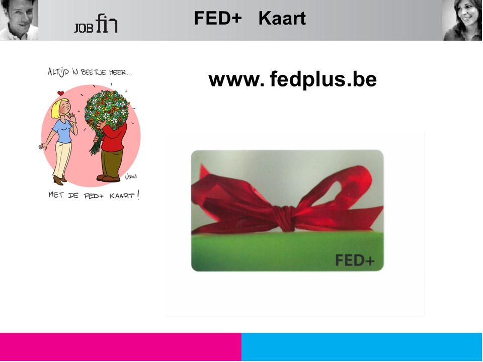 FED+ Kaart www. fedplus.be