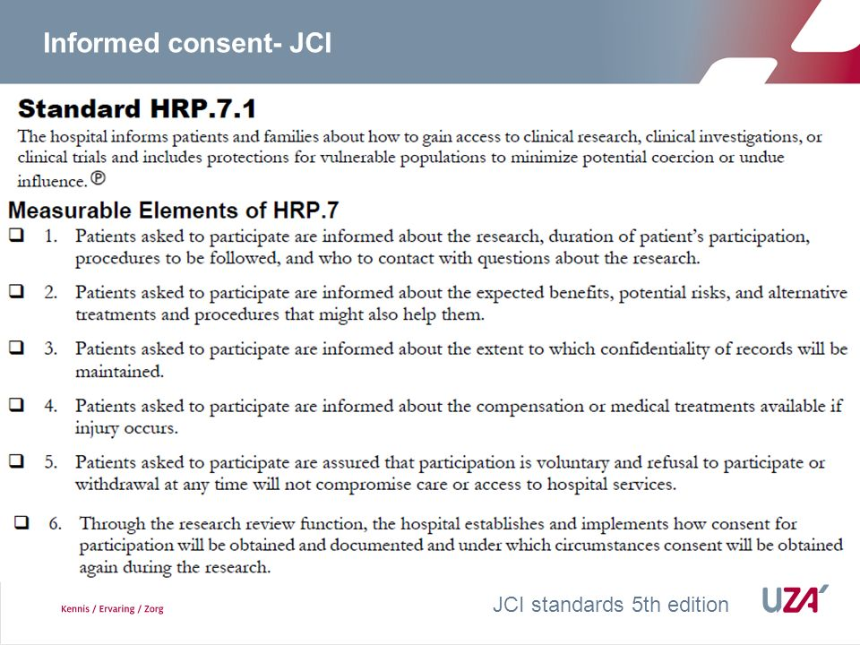 What is a valid informed consent.