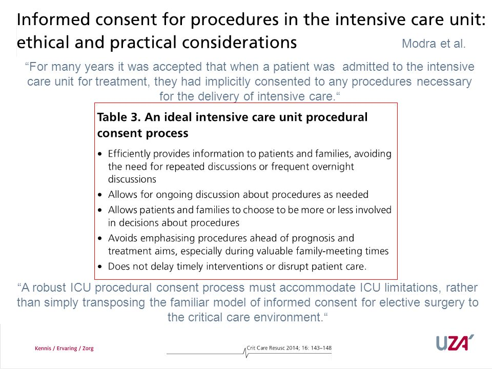 How often is informed consent obtained.
