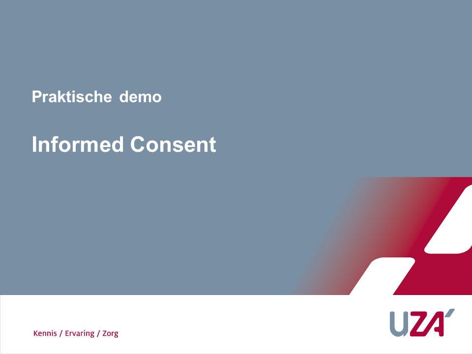 Praktische demo Informed Consent