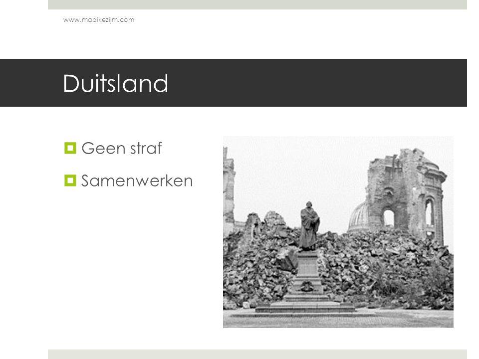Duitsland  Geen straf  Samenwerken www.maaikezijm.com