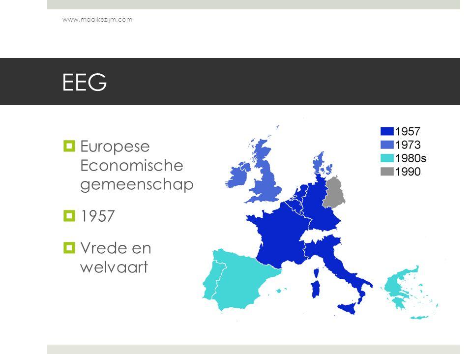 EEG  Europese Economische gemeenschap  1957  Vrede en welvaart www.maaikezijm.com
