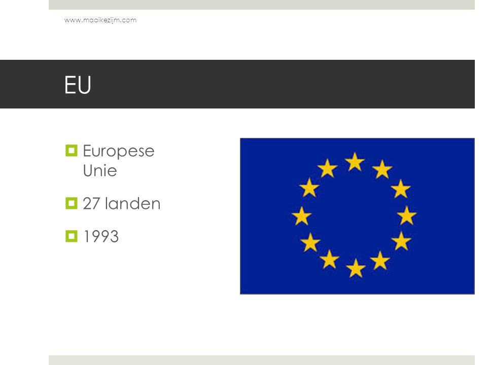 EU  Europese Unie  27 landen  1993 www.maaikezijm.com