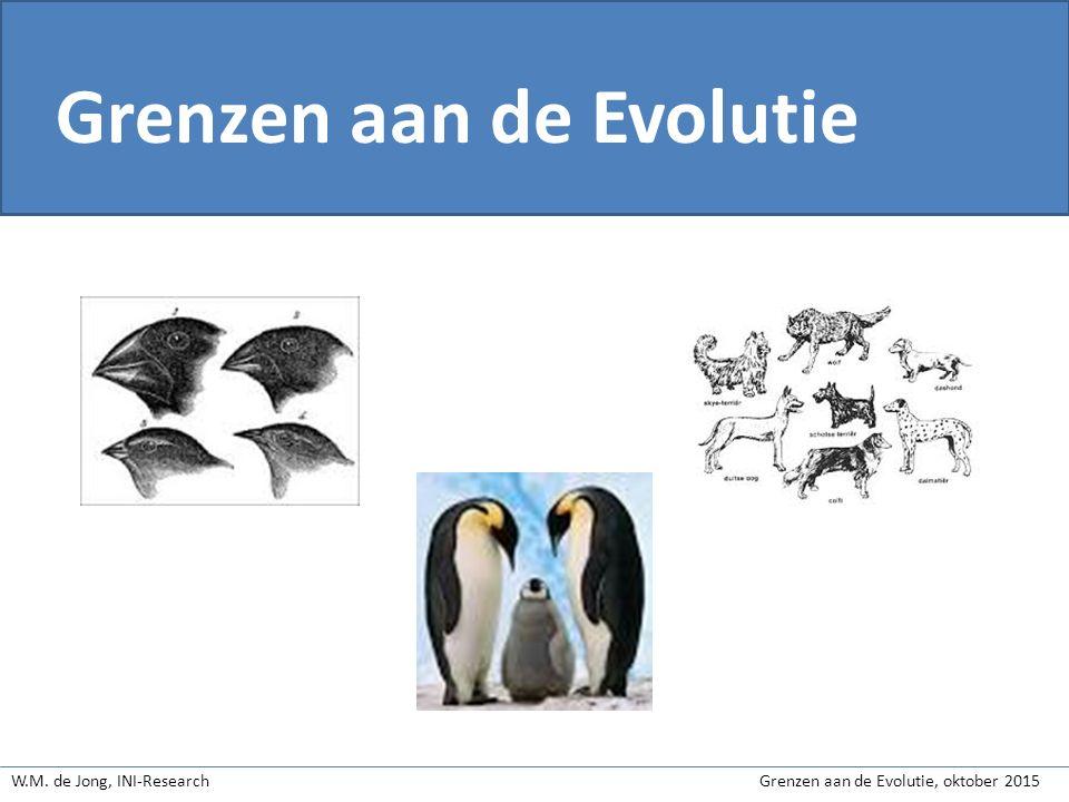 W.M.de Jong, INI-Research Grenzen aan de Evolutie, oktober 2015 1.