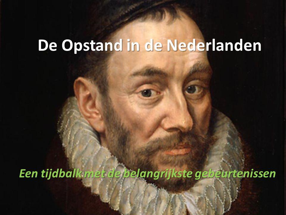 De Opstand in de Nederlanden Een tijdbalk met de belangrijkste gebeurtenissen
