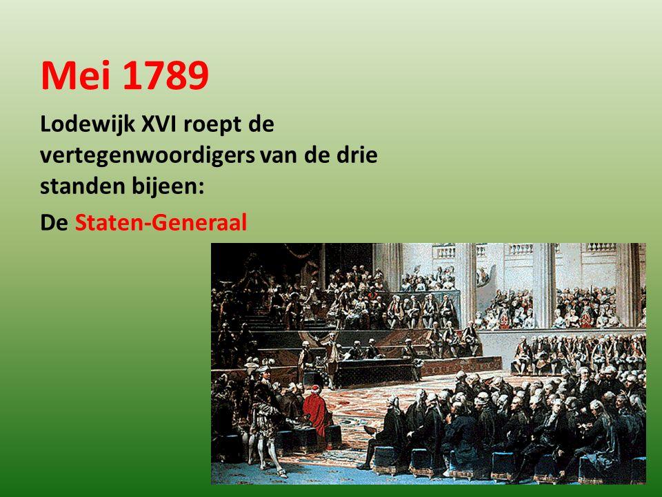 20 juni 1789 Nationale Vergadering De Derde Stand zweert niet eerder te rusten voordat er een grondwet is.