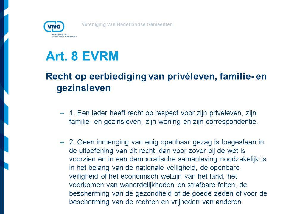 Vereniging van Nederlandse Gemeenten Art.
