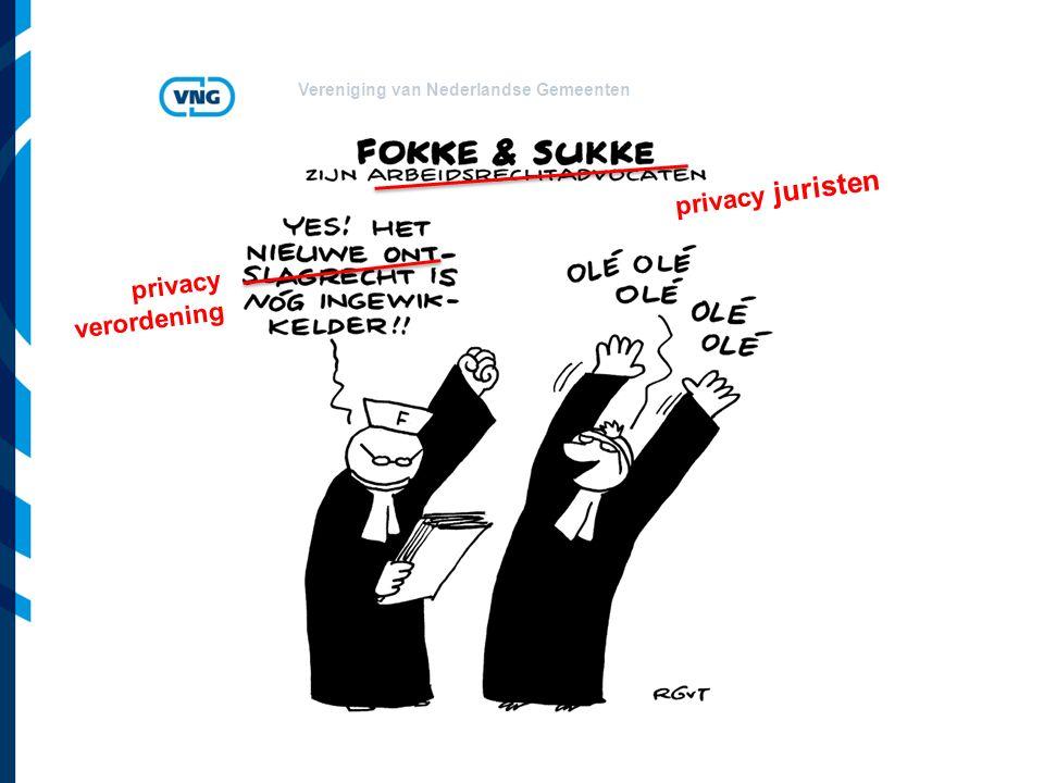 Vereniging van Nederlandse Gemeenten privacy juristen privacy verordening