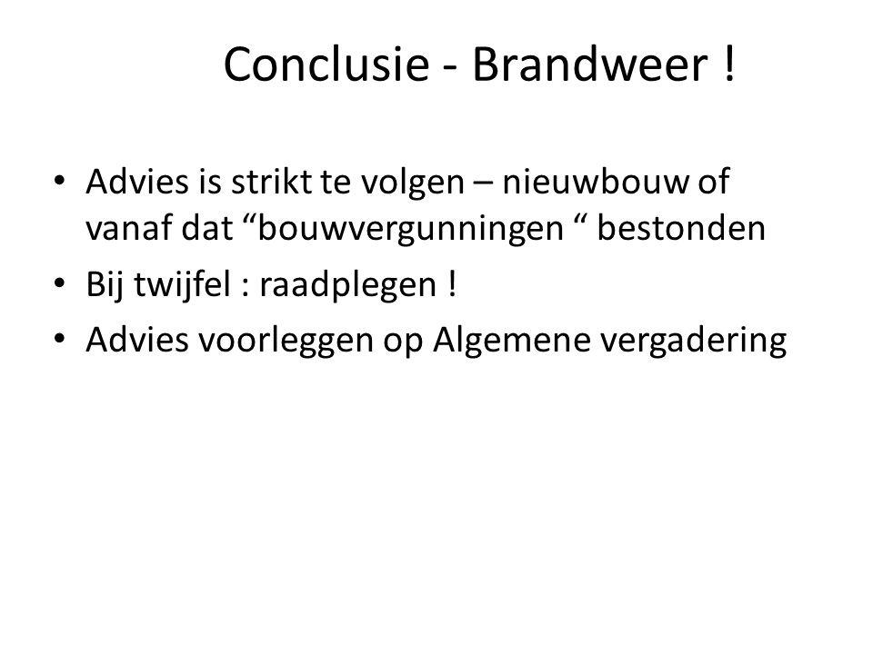 Conclusie - Brandweer .