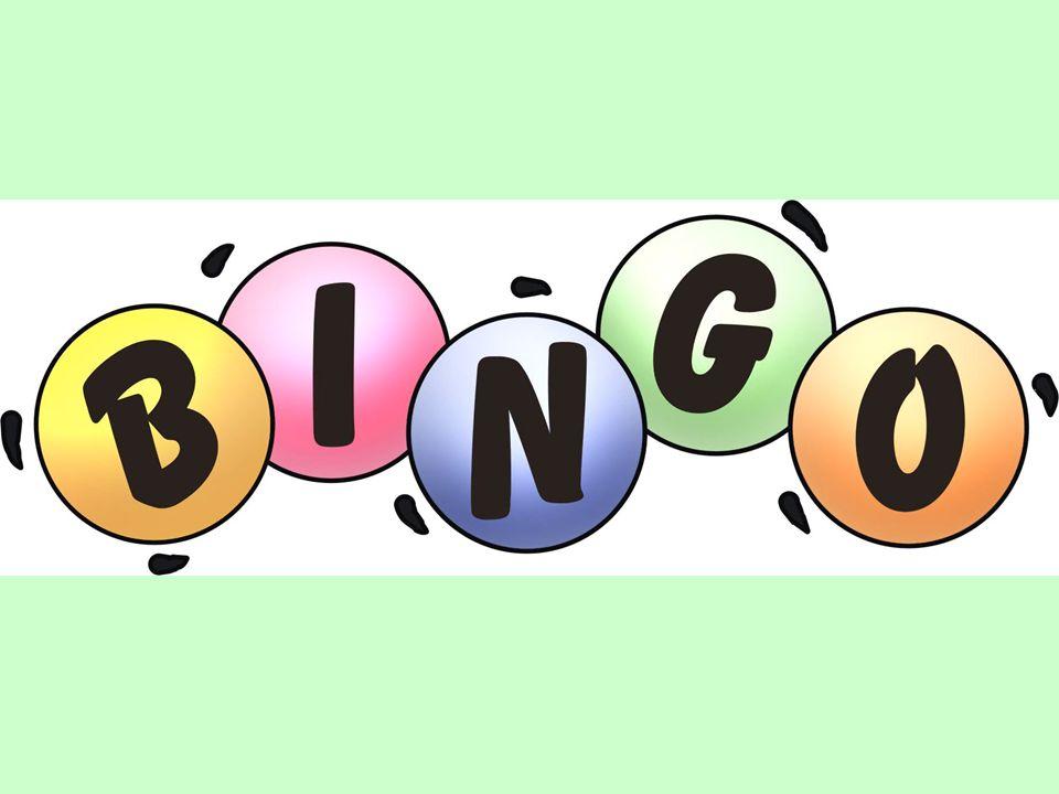 Spelregels Per tweetal krijg je een bingokaart.De docent laat een vraag zien.