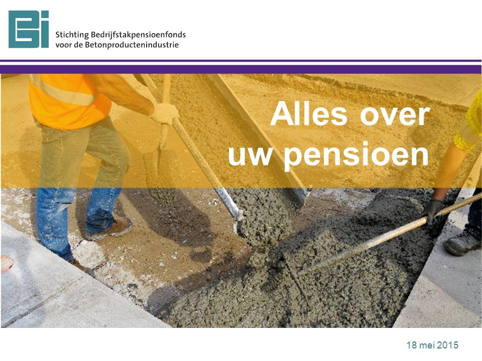 De pensioenregeling is veranderd AOW-leeftijd gaat omhoog De flexibele mogelijkheden van de pensioenregeling op een rij Mijnpensioenoverzicht.nl om zelf te rekenen met uw pensioen Waarom deze bijeenkomst?