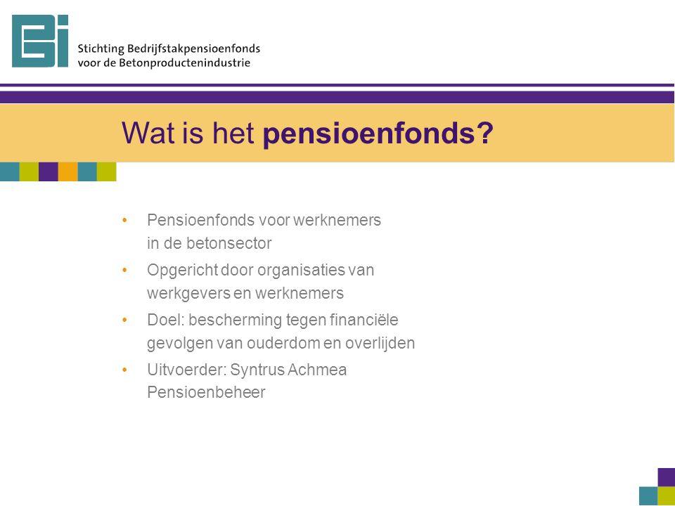 Wat is het pensioenfonds.