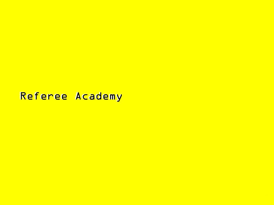 Referee Academy