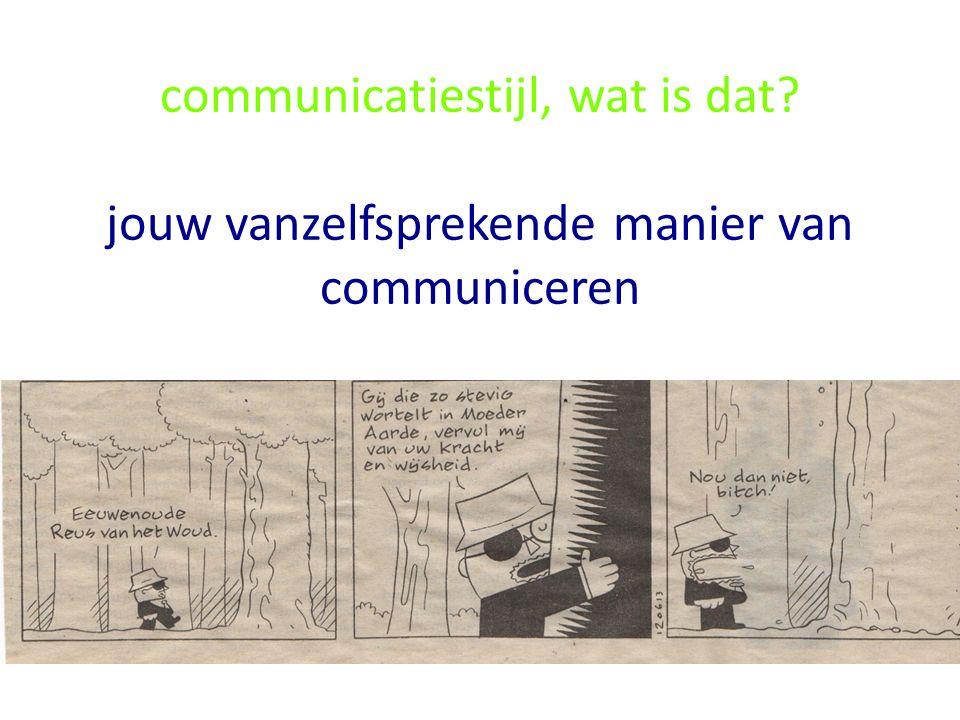 communicatiestijl, wat is dat? jouw vanzelfsprekende manier van communiceren