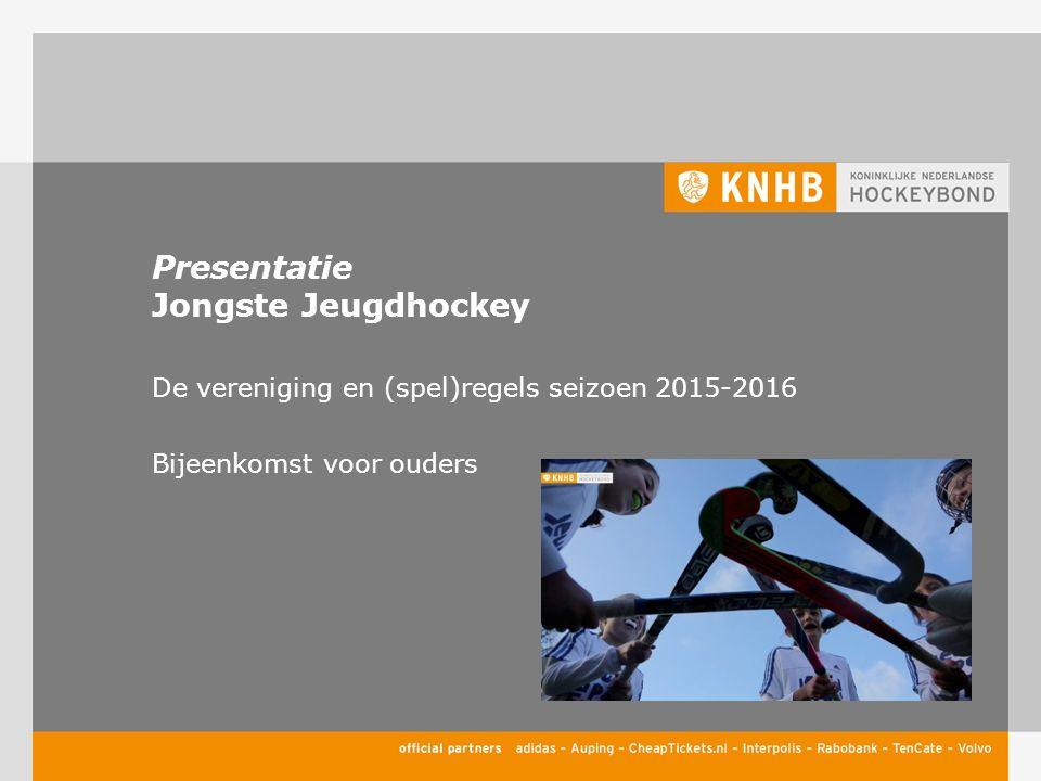 Presentatie Jongste Jeugdhockey De vereniging en (spel)regels seizoen 2015-2016 Bijeenkomst voor ouders