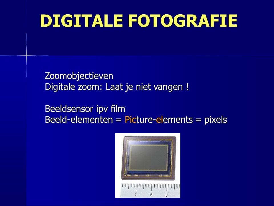 Zoomobjectieven Digitale zoom: Laat je niet vangen .