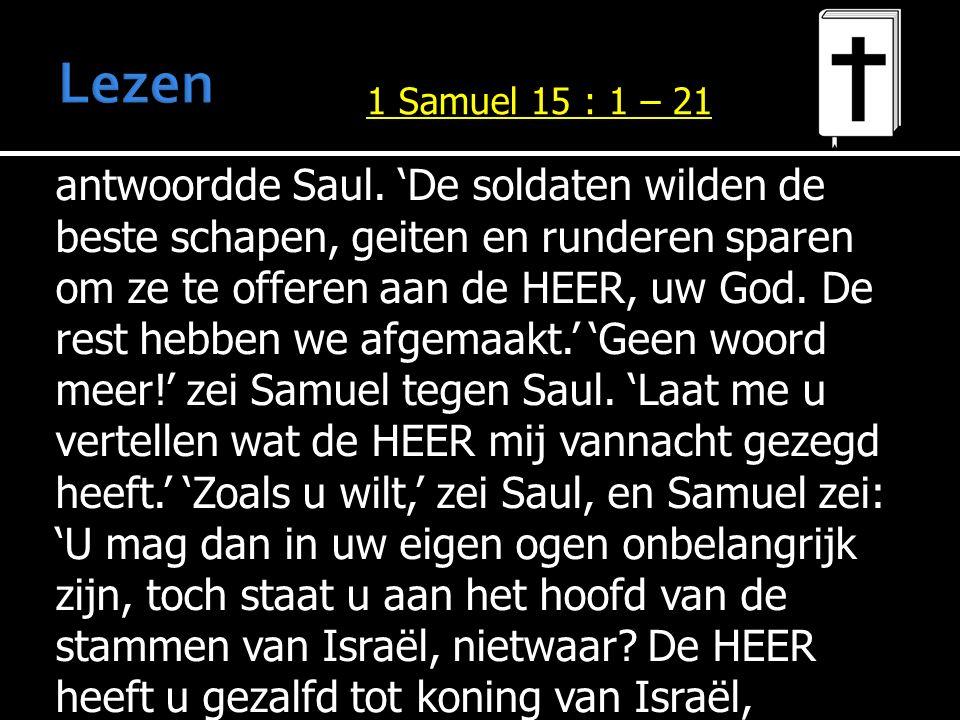 antwoordde Saul.