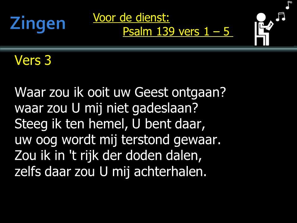 Vers 3 Het is geen offervuur wat U behaagt, Gij wilt, Heer, dat ik naar U hoor en zelf ontsluit Gij mij het oor: Gij hebt alleen gehoorzaamheid gevraagd.