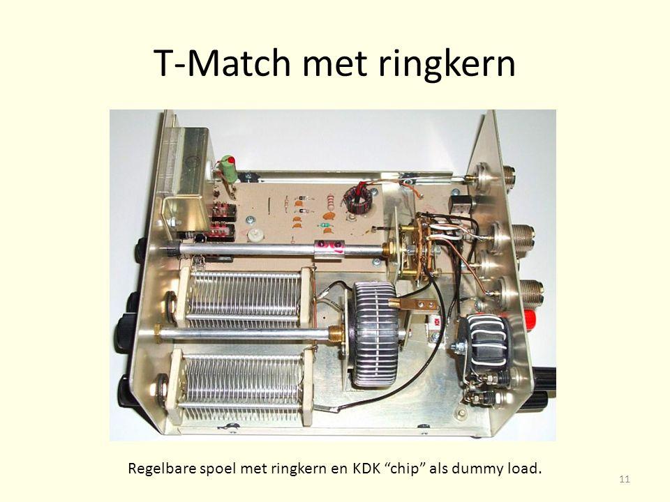 T-Match met ringkern Regelbare spoel met ringkern en KDK chip als dummy load. 11