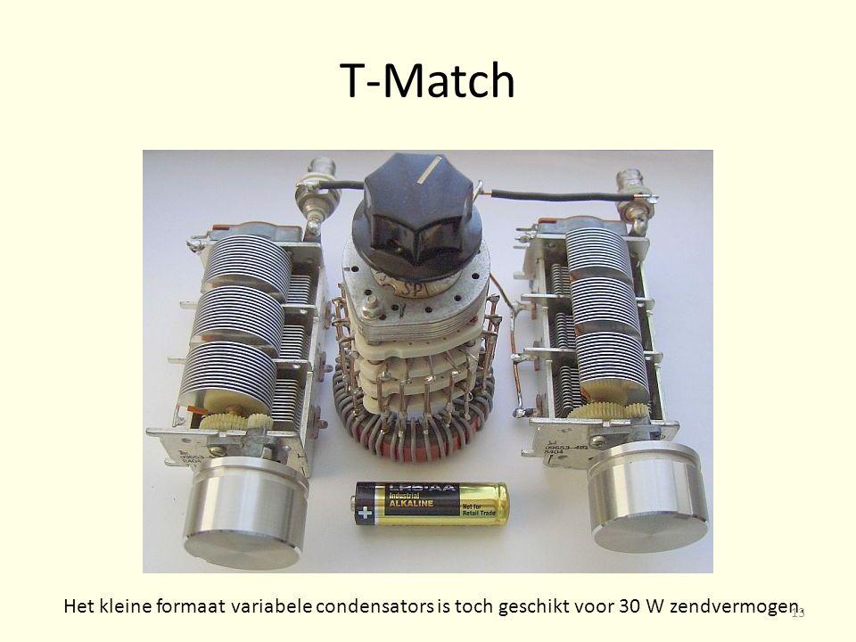 T-Match Het kleine formaat variabele condensators is toch geschikt voor 30 W zendvermogen. 13