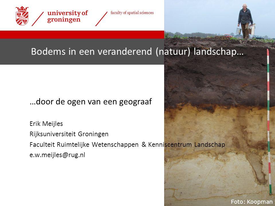 | faculty of spatial sciences Natuurlijk overstromingsprofiel kwelder… › …met daaruit volgend natuurlijke bodemopbouw & reliëf › Groeit met stijgende zeespiegel mee › Afplaggen.