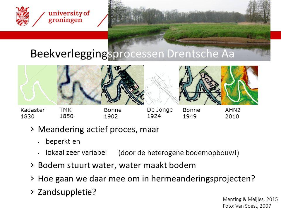| faculty of spatial sciences Veenopvulling & meandering in beekdalen › Zandige beekopvullingen – meandering.