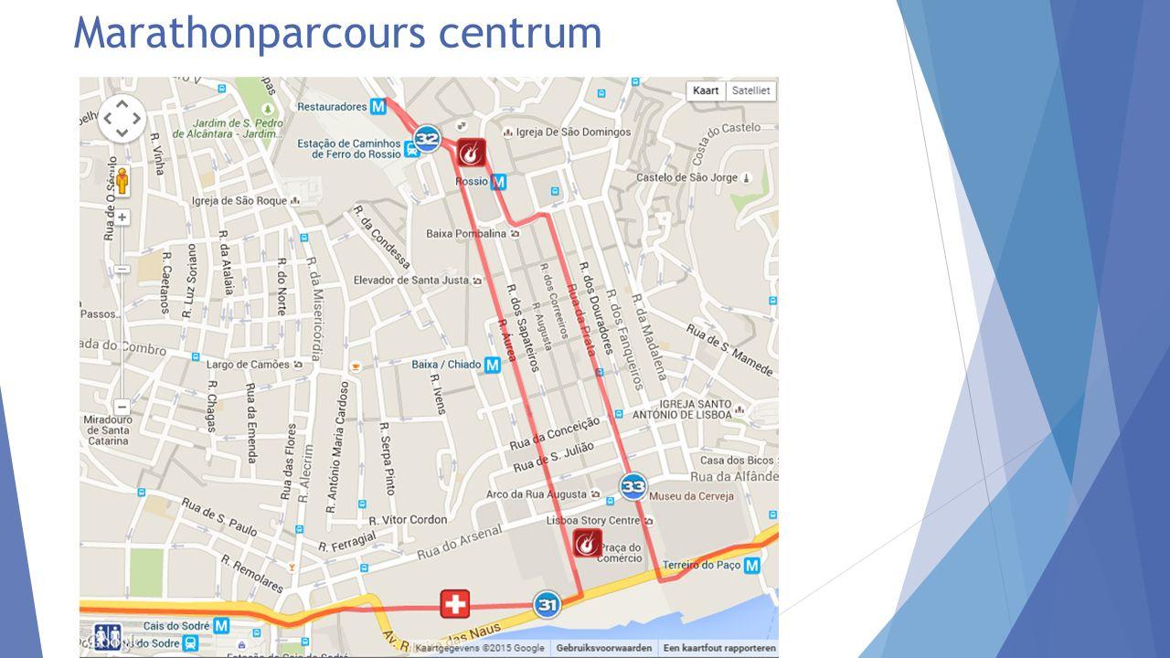 Marathonparcours centrum